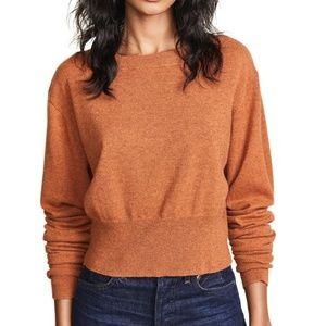 Autumn Cashmere Scrunch Sleeve Sweater in Spice XS